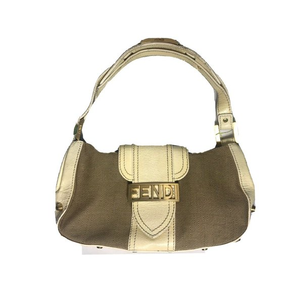 Fendi Zucca Bag Handbag Purse Tote Monogram Leathe